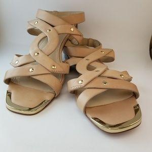 Pour la Victoire Kassia Leather Sandals Sz 8